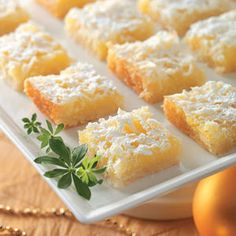 Lemon Coconut Squares Recipe- these were easy to make & delicious.