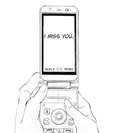 miss you - black and white - monochrome - Manga Caps