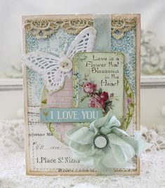 Vintage Cafe Card Challenge: Article Shabby Chic