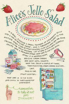 Everyday Artist: Flashback to the Fifties: Alice's Jello Salad