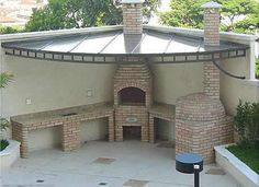 31 Ideas for Mounting Grills in Your Patio Pizza Oven Outdoor, Outdoor Cooking, Pergola, Gazebo, Outdoor Spaces, Outdoor Living, Outdoor Decor, Parrilla Exterior, Design Jardin
