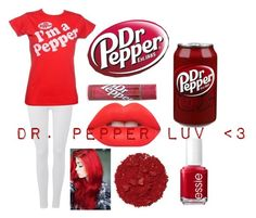 """""""Dr. Pepper luv ❤️"""" by leyna-yost ❤ liked on Polyvore featuring 7 For All Mankind, Lime Crime, Essie and Illamasqua"""