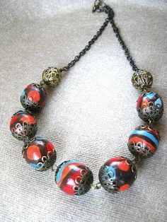 Image result for Italy beads handpainted