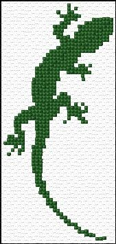 Embroidery Stitches Designs Lizard - Free cross-stitch design 'Lizard', 33 x 69 stitches 1 colors Cross Stitch Bookmarks, Crochet Bookmarks, Cross Stitch Charts, Cross Stitch Designs, Cross Stitch Patterns, Learn Embroidery, Cross Stitch Embroidery, Crochet Cross, Chart Design