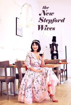 Ana Morodan wearing a Clara Rotescu dress, a Topshop headband and The Red Queen heels from Ana Morodan at Smiling Shoes summer capsule collection