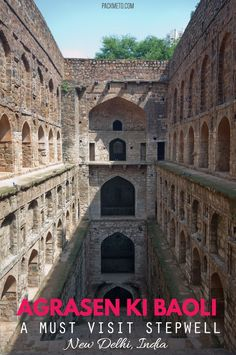 A visit to Agrasen ki Baoli, a stepwell in New Delhi, is a must. Stunning architecture, interesting backstory and it's possibly haunted! China Travel, India Travel, Japan Travel, Travel Advice, Travel Guides, Travel Tips, Travel Stuff, Travel Couple, Family Travel
