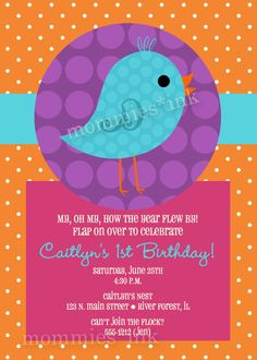 Birdie birthday - Cut out circles to hang as decor