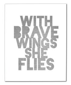 This 'Brave Wings' Art Print is perfect! #zulilyfinds