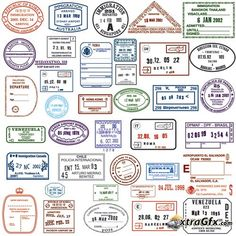 cool passport stamps