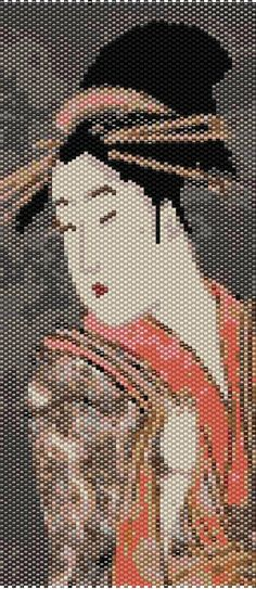 Japanese Geisha Peyote Stitch Bracelet Pattern by CreationsofAgape, $4.00
