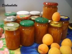 Marhuľový džem ako robili naše babky - obrázok 1 Preserves, Cantaloupe, Salsa, Food And Drink, Cooking Recipes, Jar, Canning, Fruit, Decor