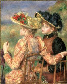Two Girls (c. 1892) by Pierre-Auguste Renoir (1841-1919), French (Philadelphia Museum of Art)