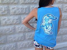 Savannah Pavilion Pocket Tank Top (Blue Marlin)