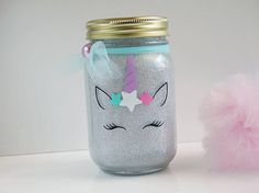 Unicorn Glitter Light - Unicorn Mason Jar - Unicorn Mason Jar Light - Unicorn Lantern - Unicorn Room Decor - Night Light - Children's Room by GumballsandGlitter on Etsy Unicorn Room Decor, Unicorn Rooms, Crafts To Sell, Diy And Crafts, Crafts For Kids, Mason Jar Crafts, Mason Jars, Unicorn And Glitter, Unicorns And Mermaids
