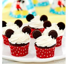 Mickey First Birthday Cupcakes Idea