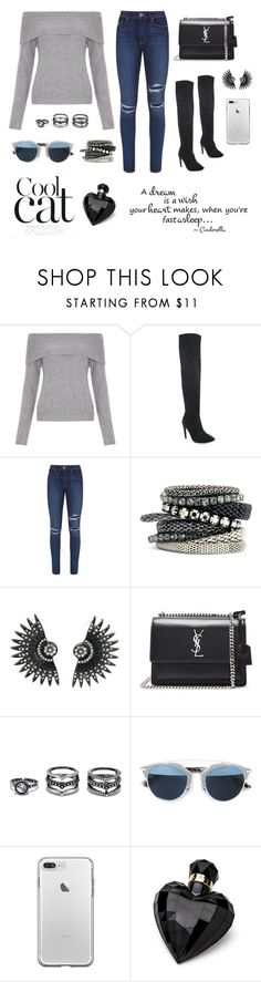 """""""Sem título #146"""" by duda7-1 ❤ liked on Polyvore featuring New Look, Paige Denim, H&M, Yves Saint Laurent, LULUS, Christian Dior and Lipsy"""