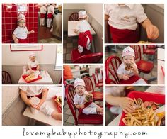 Let them eat cake. But if they don't want to, try a burger smash instead. This is the theory behind my son's first-birthday In-N-Out Burger (and fries) s… Burger And Fries, Baby Center, Photo Projects, Creative Photos, Cake Smash, Party Cakes, Let Them Eat Cake, 1st Birthday Parties, First Birthdays