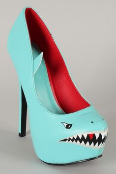 Shark Leatherette Almond Toe Platform Pump $35.40