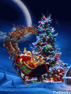 Santa's Sleigh fly reindeer christmas santa graphic sleigh christmas pics