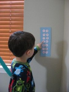 Pretend Play: Make Math Fun with a DIY Elevator! And a children's book to go with the activity.