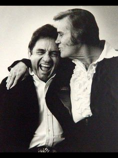 Johnny Cash and George Jones- recreate with Pete Country Music Artists, Country Music Stars, Country Singers, Johnny Cash June Carter, Johnny And June, Music Icon, Music Tv, Musica Country, Outlaw Country