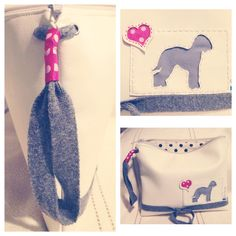 Bedlington terrier silhouette in a clutch bag by markellagi ☺️