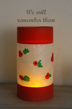 Simple Poppy Lantern for kids to make & light a candle to remember.
