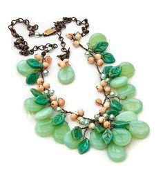 Green Statement Necklace Bib Necklace by CherylParrottJewelry, $124.95   Beautiful summer fun
