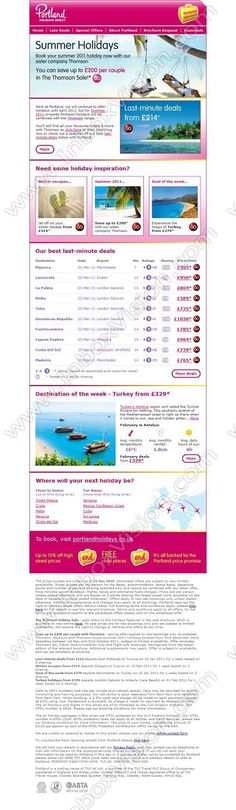 Company:    Portland Holidays Direct    Subject:    Save up to GBP200 this summer plus late deals from GBP214              INBOXVISION is a global database and email gallery of 1.5 million B2C and B2B promotional emails and newsletter templates, providing email design ideas and email marketing intelligence www.inboxvision.com/blog  #EmailMarketing #DigitalMarketing #EmailDesign #EmailTemplate #InboxVision  #SocialMedia #EmailNewsletters