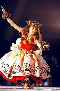 hula kahiko loving her lei po'o and lei a'i and pa'u. And kupe'e...well just everything!