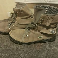 4a2bc8c5f1bf32 Lacoste woman s grey boots Size 10 woman s lacoste grey boots. Good  condition. Lacoste Shoes