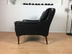 Vintage Sessel - edler Leder-Sessel 60er/70er*Mid Century No.1 v. 2 - ein Designerstück von Mid-Century-Frankfurt bei DaWanda