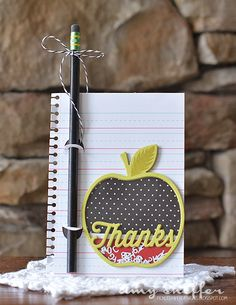 Thanks Pencil Card by Amy Sheffer for Papertrey Ink (April 2015)