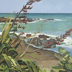 Michael McCormack.co.nz/Princess Bay Flax Bay Print
