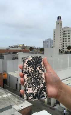 Black Lace on Rose Gold from the Floral Collection at Elemental Cases. Available for iPhone 6/6s and 6 Plus/6s Plus