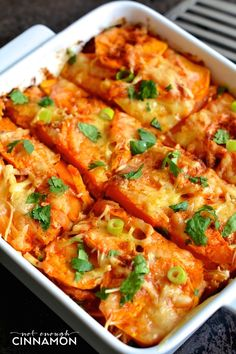 Mexican Sweet Potato and Chicken Casserole - So delicious and naturally gluten free + primal. Click here to see the recipe on NotEnoughCinnamon.com #healthy #cleaneating