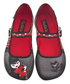Another great find on #zulily! Black & Red Petunia Mary Jane - Women #zulilyfinds