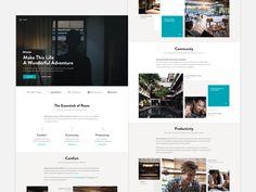 Roam.co - Homepage by Ales Nesetril #Design Popular #Dribbble #shots