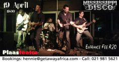 Stormers & The Band Mississippi Disco Live, Party at Plaasteater Gumtree South Africa, Free Classified Ads, Mississippi, Rugby, Night Life, Band, Live, Concert, Party