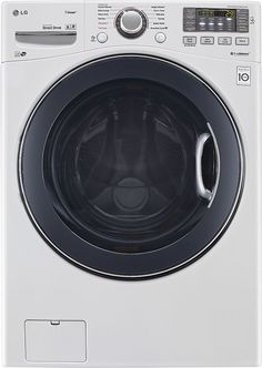LG - TurboWash 4.3 Cu. Ft. 12-Cycle High-Efficiency Steam Front-Loading Washer - White