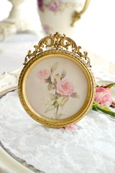 Stunning Antique Ormolu Gilt Picture Frame by Jenneliserose