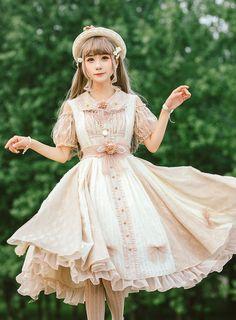 Fantastic Wind -Fenlin- Vintage Classic Lolita JSK Source by jennahaleylawson Kleider Harajuku Fashion, Kawaii Fashion, Lolita Fashion, Cute Fashion, Look Fashion, Vintage Fashion, Fashion Design, 80s Fashion, Gothic Fashion