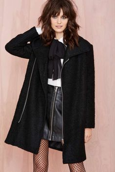 Maggie Coat | Shop The Temp Drop Shop at Nasty Gal