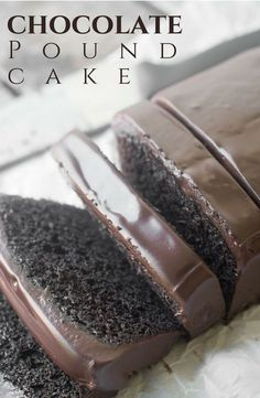 Risch moist and decadent Chocolate Pound Cake with chocolate ganache is a chocolate lovers dream come true