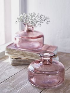 Small Rose Blush Vases