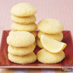 Easy Lemon Sugar Snaps Need to make cookies fast? Try this recipe, which uses a lemon cake mix to save time.