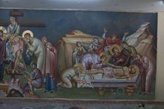 2 posts published by iconsalevizakis during September 2015 Church Interior, Byzantine Icons, Holy Week, Orthodox Icons, Ikon, Religion, Projects To Try, Painting, Murals