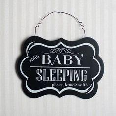 Shh Baby Sleeping Hanging Sign Wall Décor | Adams & Co. #adamsandco #InspiringLife