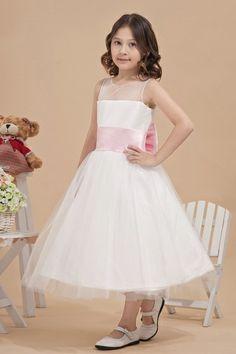 Cintura di Colore Rosa Smanicato Abito Da Cerimonia Bambina Economico  Vestiti Per Bambine Piccole 23adf56470b