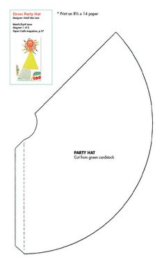 Party hats hat template and hat tutorial on pinterest for Top hat template for kids